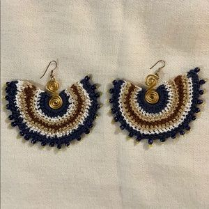 Handmade Knitted Earrings